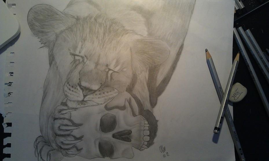 lejon & dödskalle :D