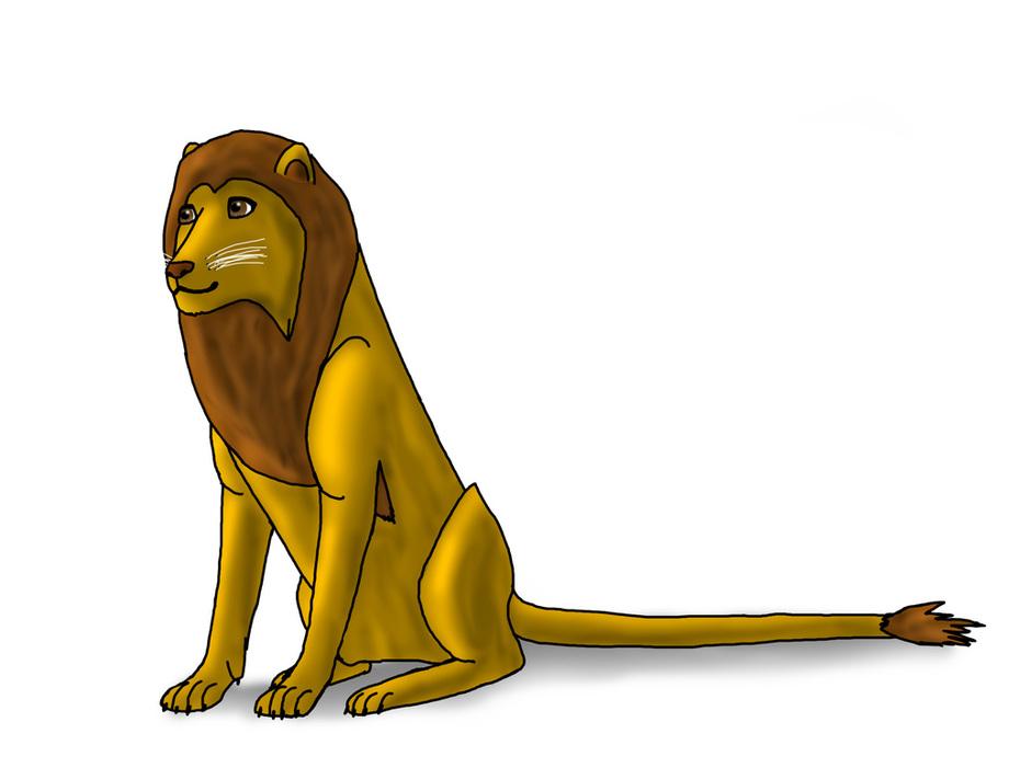 Ett gulligt lejon