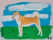 Shiba målning