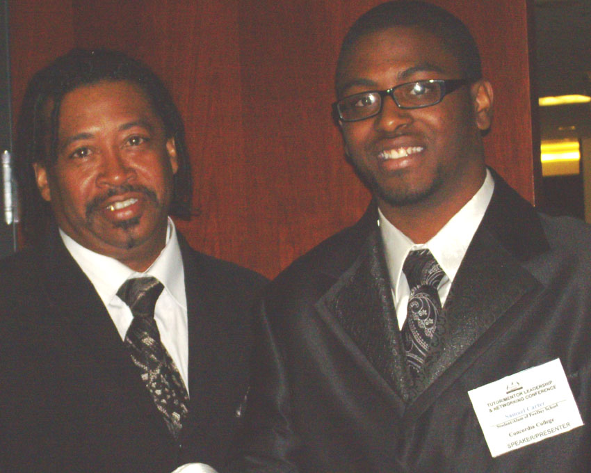 June 2013Tutor/Mentor Conference - alum and Dad