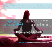 21 Day Mental Detox Challenge Starts August 26th