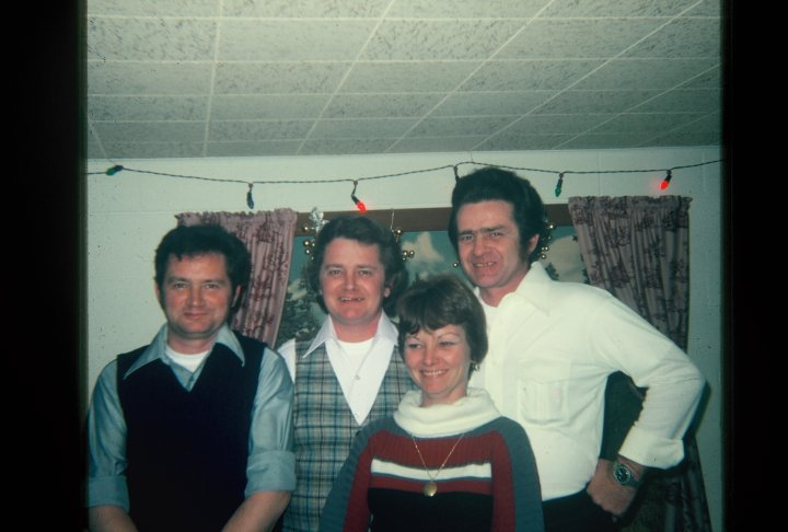 Uncle Craig, Uncle Ron, Nancy Raymond, and Dad