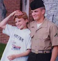 Ben Doyle _ US Marine with little brother Patrick