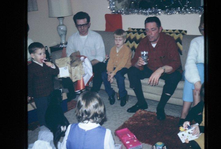 Dad, Kevin, Grandpa, mom's right leg
