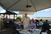 Roger & Sandy and Mom 10-16-2010 at Kingfish Grill - Fort St. Augustine