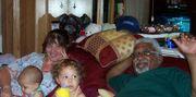 Enjoying our grandbabies, Amaya and Jordan