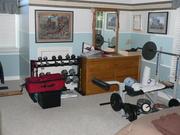 Garrett's Bedroom/Weight Work Out Space