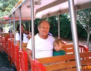Geo & Dad on Little Train