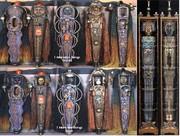 Row of Interactive Sculptures