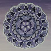 Purple Chakra Mandala