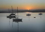 Calm waters at sun set
