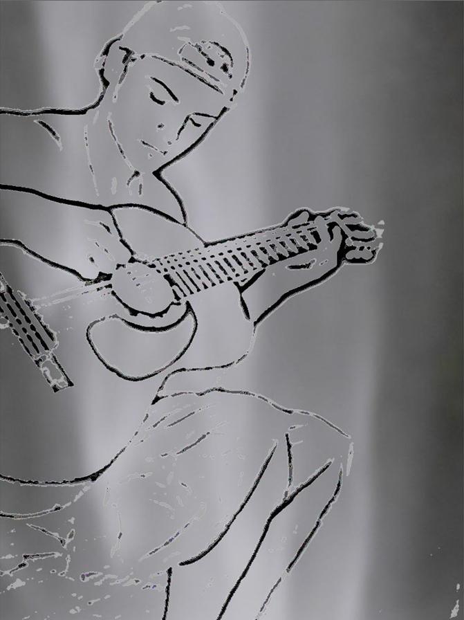 Ian guitar shades of grey