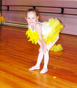 Lily at ballet rehearsal