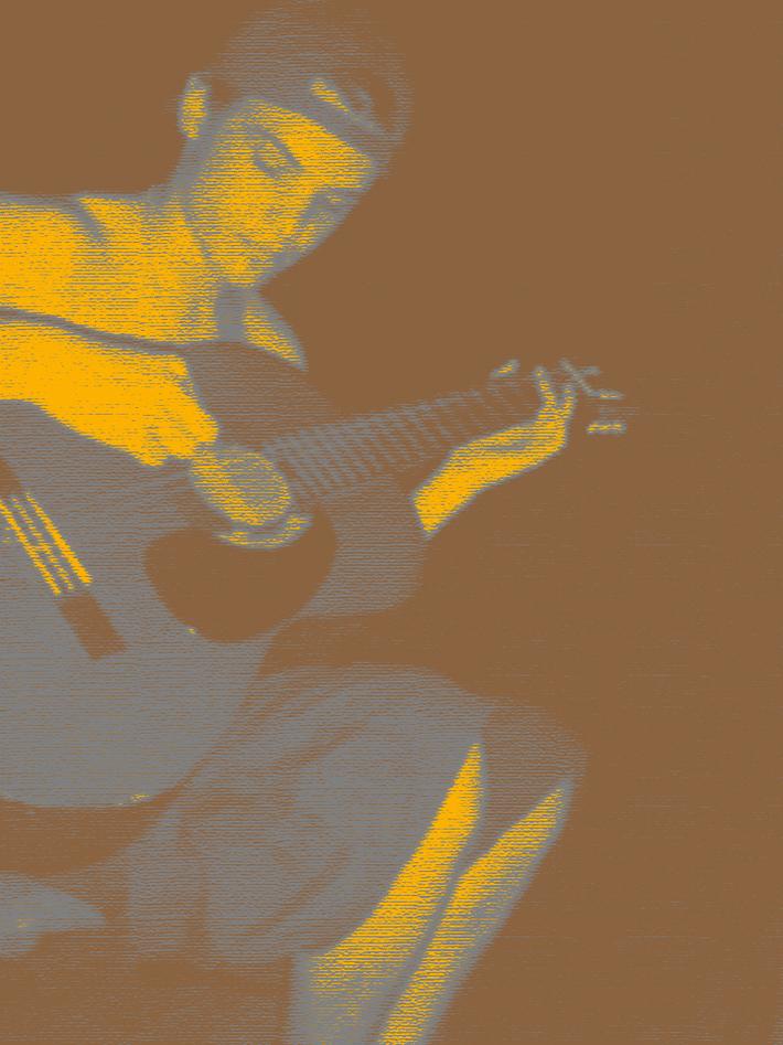 Ian guitar mustard