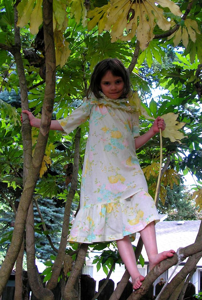 Emma in a tree
