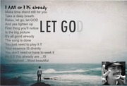 Relax, let go, let GOD