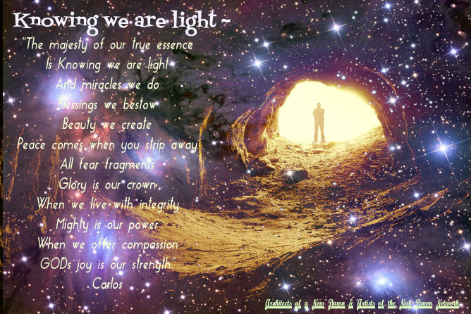 Knowing we are light ~