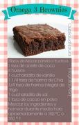 Receta Brownies Omega 3