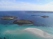 View from Helicopter approaching Tresco
