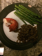 Lobster Tail, Asparagus & Miracle noodles (P2)