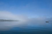 Gaskin Bay in fog.