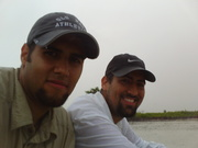 My brother and I caught in a mini- hurricane at East Clubhouse Beach