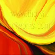 An orange W