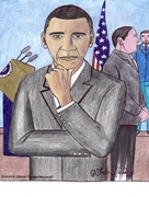 barack obama the new president   (early work in my career)