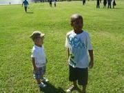 boys at a picnic