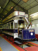 Restored London United Tramways car number 159. Liveried on route 67 via Hampton