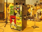 Angry Cajon in Studio
