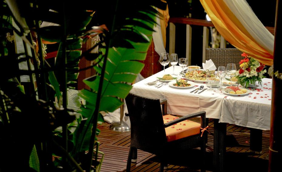 Foods and Decoration setup