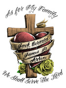 Cross Heart Tattoo Design 02