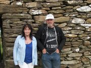 With my wife Gerry, inside Grianan Aileach, Co. Donegal