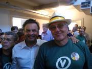 Senador Aecio Neves e Mauricio valle