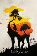 The Good Shepherd / Acrylics - 100x150cm (Live Paint)