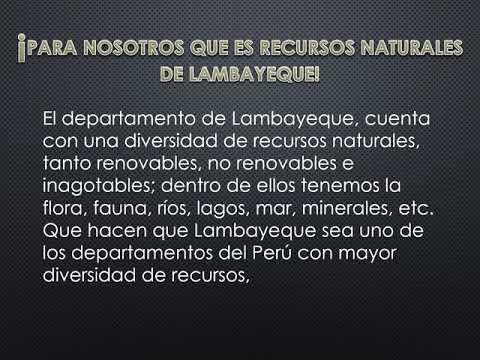 RECURSOS NATURALES DE   LAMBAYEQUE