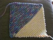 Knitted blocks for blanket