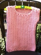 pink slipover / vest