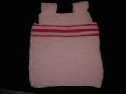 pink slipover in garter stitch 001