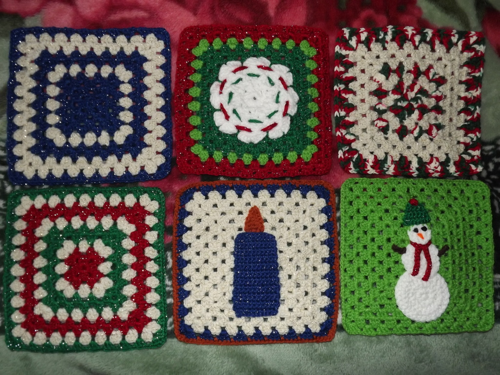 June 2013 Christmas Squares Set #1