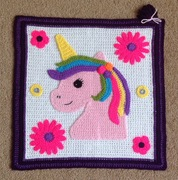 "16"" Unicorn Square. June."