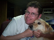 With my dog Elmo in 2004