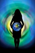 Sophia holding the Earth