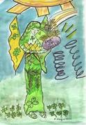 Clover Leaf Faerie and Her Leprechaun Friend