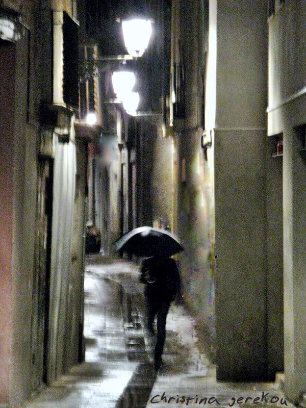 sudden rain in barcelona