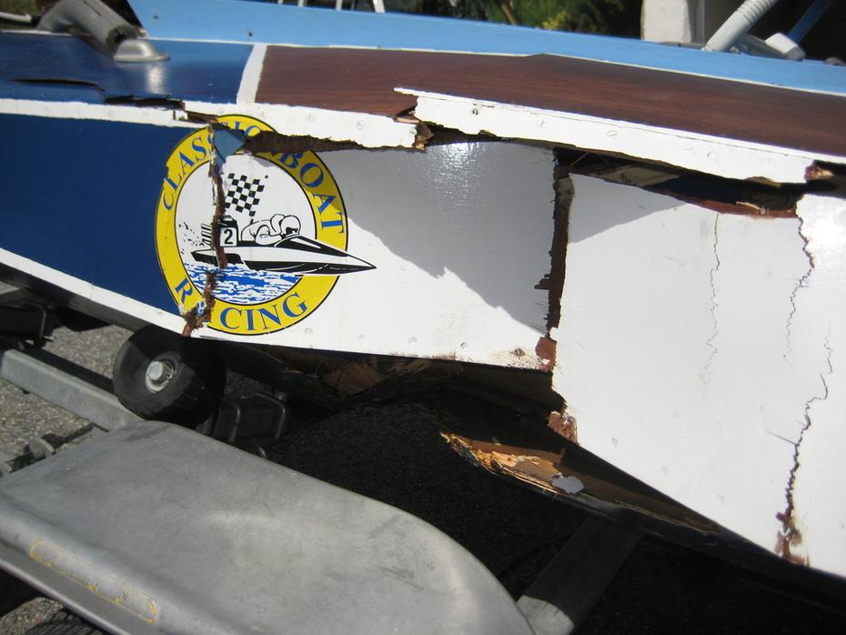 Skadan på MadCapen efter Nynäshamn 2012-07-21