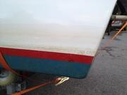Fel vattenlinje med 20 kg tyngre motor - bak