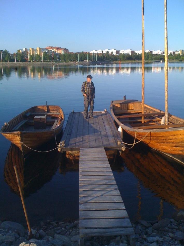 Langenbåt med två master