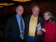 "Bill Ponath, author of ""Verdict For America"" with Arizona Senate President Russell Pearce and Joan Ponath"